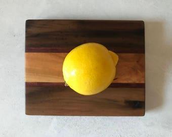 Citrus Board in Walnut, Maple & Purpleheart Handmade