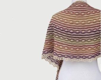 Gestreiften Schal strukturierte Wolle Schal Multicolor Wolle wickeln Ooak Hälfte Kreis Schal vertuschen Warm Geschenk für Frauen