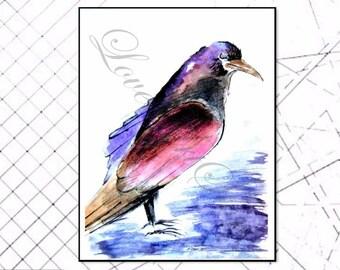 Angry BIRD, Printable Artwork, Modern Art, Poster, Digital Print, Digital Art, Instant download, Bird, Gift, Nature Art, Cadeau