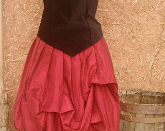 puffed skirt elven, medieval, steampunk, Gothic style Cape Diem