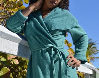 Hemp top custom made and hand dyed // organic clothing // eco-friendly // hemp clothing // wrap top