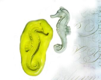 silicon mold, flexible Silicone mold - push mold -  food supplies mold, clay supplies molds, Sea Horse mold  , #  44 s