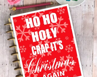 Christmas Planner Cover/ planner/ laminated/ Ho Ho Ho