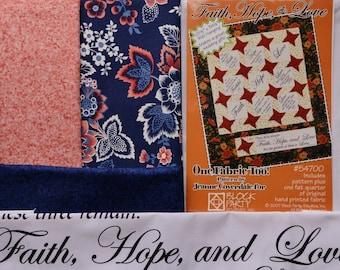 Faith, Hope & Love Quilt Kit