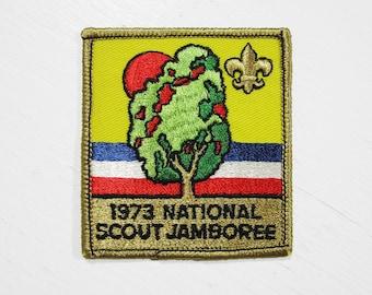 Vintage 1973 National Scout Jamboree Patch BSA Boy Scouts of America Mint