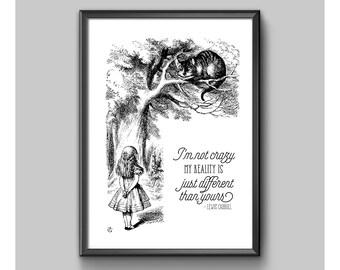 Print - Alice In Wonderland - I'm Not Crazy