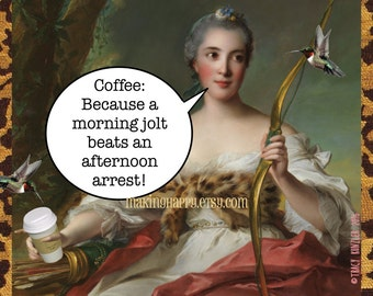 Morning Jolt Beats Afternoon Arrest Funny Coffee Postcard