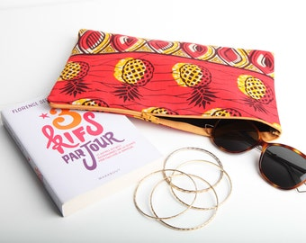 BECCA wallet - Wax Print with Pineapple - Original, trendy and colorful