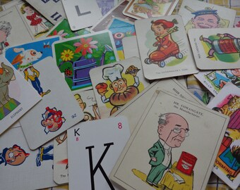 Vintage Cards From Children's Games Assorted Treasures