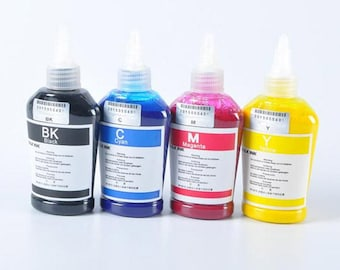 4 x 100ml 400ml Bottle For Epson Dye Sublimation Ink Non OEM *Free Shipping*