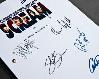 Scream Film Movie Script with Signatures / Autographs Reprint Unique Gift  Screenplay Present TV Fan Geek Horror Neve Campbell