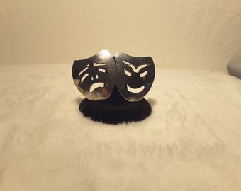 Vintage Tragedy/Comedy Mask Brooch