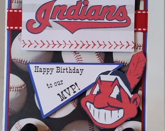 Cleveland Indians Birthday Card