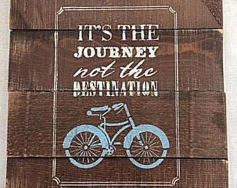the journey sign reclaimed wood