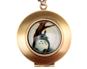 Necklace locket totoro 1616m