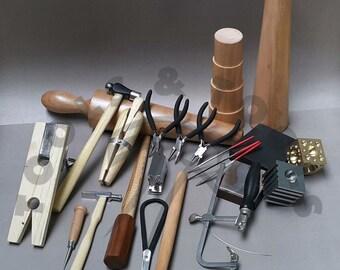 METALSMITH TOOLS KIT beginners -apprentice metalsmithing jewelry making tool set
