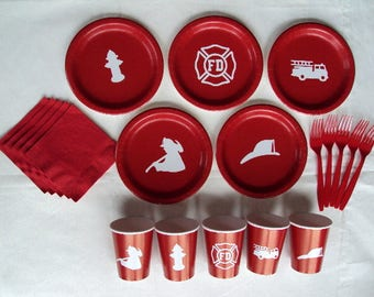 Fire Department Tableware Set for 5 People