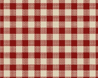 Windham Basics - Red & White Plaid Fabric