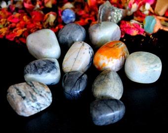 ONE Tumbled Picasso Jasper Stone - Chakra Healing Crystal, Birthday Gift For Him, Reiki Pocket Stone, Impression Jasper, Picasso Marble,Yoga