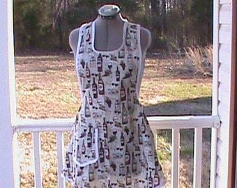 Other vinatage apron something that ours mothers would wear. Cotton blend can make any size.