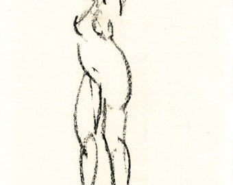 Gesture study 267 Original drawing  8 x 10 inches