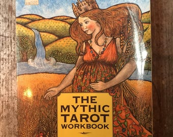 Vintage The Mythic Tarot Worbook by Juliet Sharman-Burke