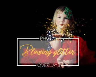 50 Blowing glitter overlays