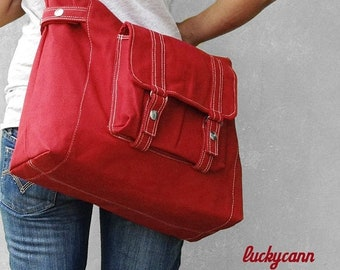 Mother s Day Big Sale CARSON // Dark Red / Lined with Beige / 033 // Ship in 3 days // Messenger / Diaper bag / Shoulder bag / Tote bag / Pu