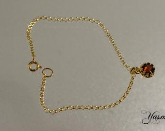 Garnet gold plated sterling