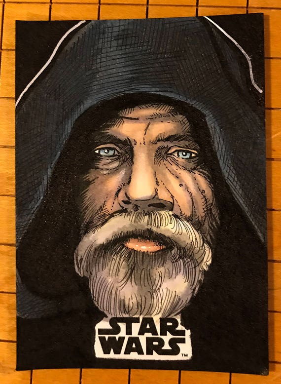 Last Jedi Original Artist Sketch Card: Luke Skywalker
