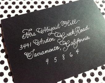 WEDDING CALLIGRAPHY ABIGAIL : Custom Wedding Calligraphy Envelope Addressing