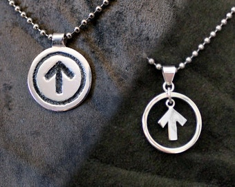 Collared Submissive Male Emblem Sterling Silver
