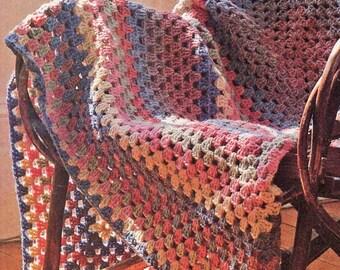 Afghan Crochet Pattern, EASY Granny Square Crochet Afghan Pattern, Handmade Gift Idea, INSTANT Download Pattern PDF (1022)