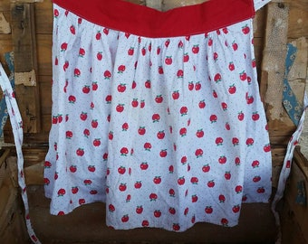 Retro Apple Half-Apron