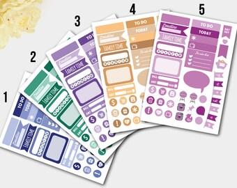 Sampler Sticker, Sampler Planner, Planner Sampler, Sampler Planner Stickers, Planner Sticker Sampler for Erin COn, Sample Sticker