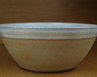 Large Bowl Handmade in Stoneware, Centrepiece, Pottery Bowl