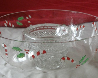 Christmas Bowl on a Pedestal