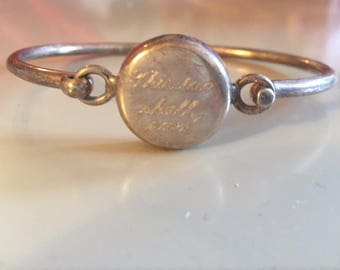 This Too Shall Pass Unique Antique Sterling Silver Bracelet Engraved