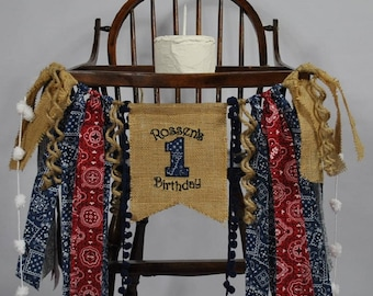 COWBOY/Rodeo 1st Birthday NAME Banner-High Chair Banner-Banners-Birthday Banners-Birthday Banner One-Custom Banners-Party Banner-Photo Prop