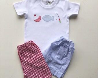 Boys Fishing Shirt, Baby Boy Fishing Shirt, Boy Birthday Gift