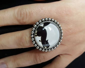 Ring adjustable large cat
