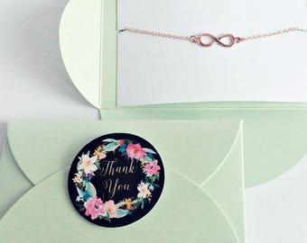 3x Infinity Bracelet rose gold, Infinity, Infinity, Bridesmaid Gift, Gift, Love, Eternity