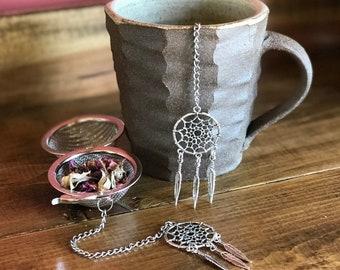 Dream Catcher Tea Infuser - Whimsical - Loose Leaf Tea Ball - Stainless Steel Infuser - Tea Strainer - Tea Steeper - Tea Ball - Tea Brewer