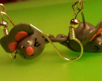 Earrings small mice cute adorable and original
