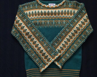 70's boho sweater bell sleeve sweater