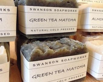 Green Tea Matcha, All Natural Soap, Handcrafted Soap Bars