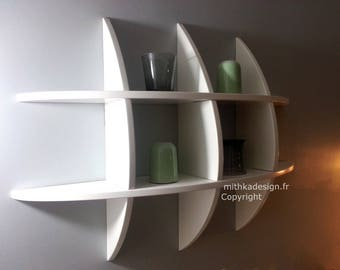 Invisible fastenings SKINNY 3 design wall shelf