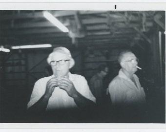 Sandwich & Cigarette, c1960s: Vintage Snapshot Photo (71537)