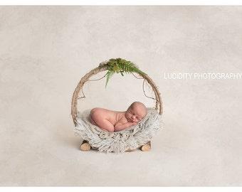Digital prop/backdrop (Woodland Basket Natural)