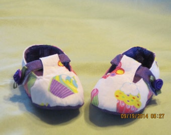 Girls Mary Jane Style Fabric Baby Bootie: Item 0029